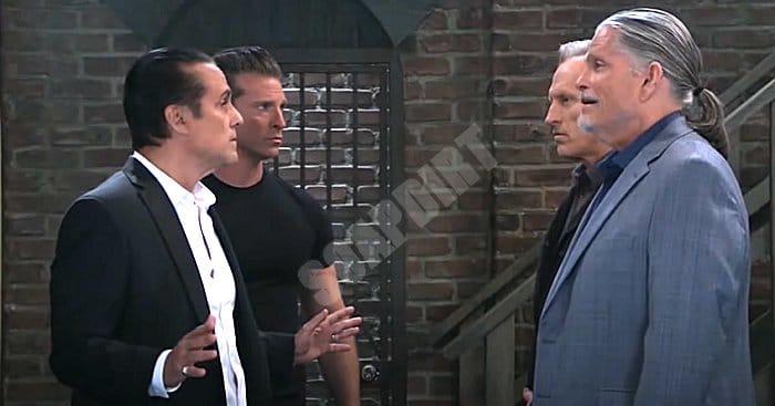 General Hospital Spoilers: Sonny Corinthos (Maurice Benard) - Jason Morgan (Steve Burton) - Cyrus Renault (Jeff Kober)