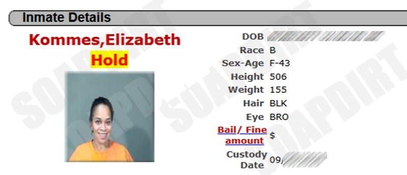 Love After Lockup: Lizzie Kommes mugshot