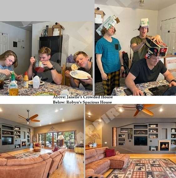 Sister Wives: Janelle Brown in Small House - Robyn Brown in Big House