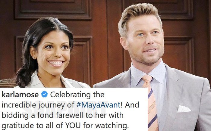 Bold and the Beautiful Comings Goings: Rick Forrester (Jacob Young) - Maya Avant (Karla Mosley)