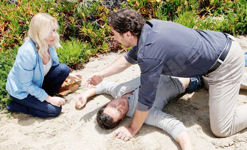 Bold and the Beautiful: Brooke Logan (Katherine Kelly Lang) - Ridge Forrester (Thorsten Kaye) - Thomas Forrester (Matthew Atkinson)