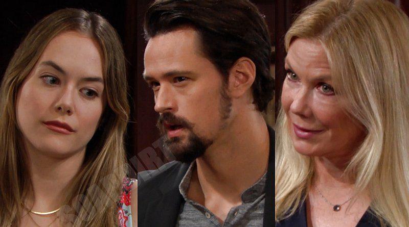 Bold and the Beautiful Spoilers: Hope Logan (Annika Noelle) - Thomas Forrester (Matthew Atkinson) - Brooke Logan (Katherine Kelly Lang)