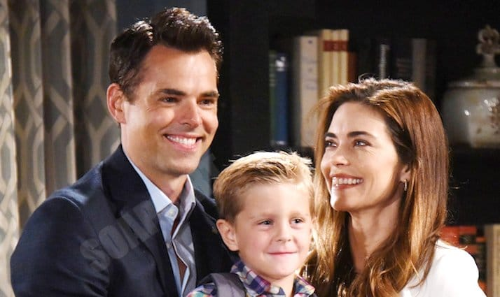 Young and the Restless: Victoria Newman (Amelia Heinle) - Johnny Abbott (Holden Hare) - Billy Abbott (Jason Thompson)