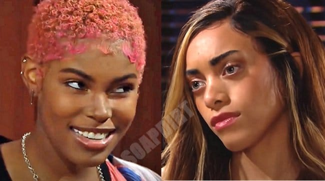 The Bold And The Beautiful: Zoe Buckingham (Kiara Barnes) - Paris Buckingham (Diamond White)