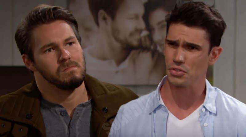 """Bold and the Beautiful Spoilers: Liam Spencer (Scott Clifton) - John Finnegan """"Finn"""" (Tanner Novlan)"""