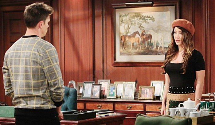 The Bold And The Beautiful: Steffy Forrester (Jacqueline MacInnes Wood) - Dr. John Finnegan - Finn - (Tanner Novlan)