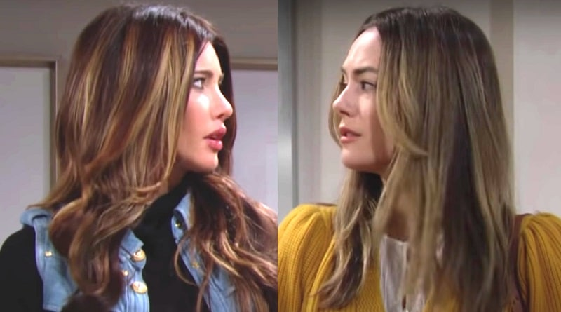 Bold and the Beautiful: Steffy Forrester (Jacqueline MacInnes Wood) - Hope Logan (Annika Noelle)