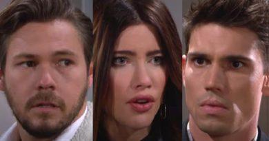Bold and the Beautiful Spoilers{: Liam Spencer (Scott Clifton) - Steffy Forrester (Jacqueline MacInnes Wood) - John Finn Finnegan (Tanner Novlan)