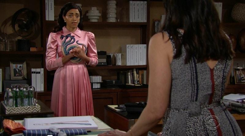 Bold and the Beautiful Spoilers: Zoe Buckingham (Kiara Barnes) - Quinn Fuller (Rena Sofer)